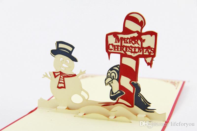 Biglietto di auguri di Natale biglietto di auguri di Natale decorazioni natalizie carte di Natale le carte di bessing pop-up pop-up biglietto di auguri