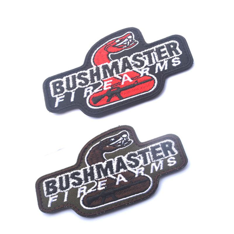 2016 new hot sell BUSHMASTER FIRE ARMS 3D Embroidered Armband Banner TACTICAL Embroidery Tactics Gear Patch 8*5CM 1891
