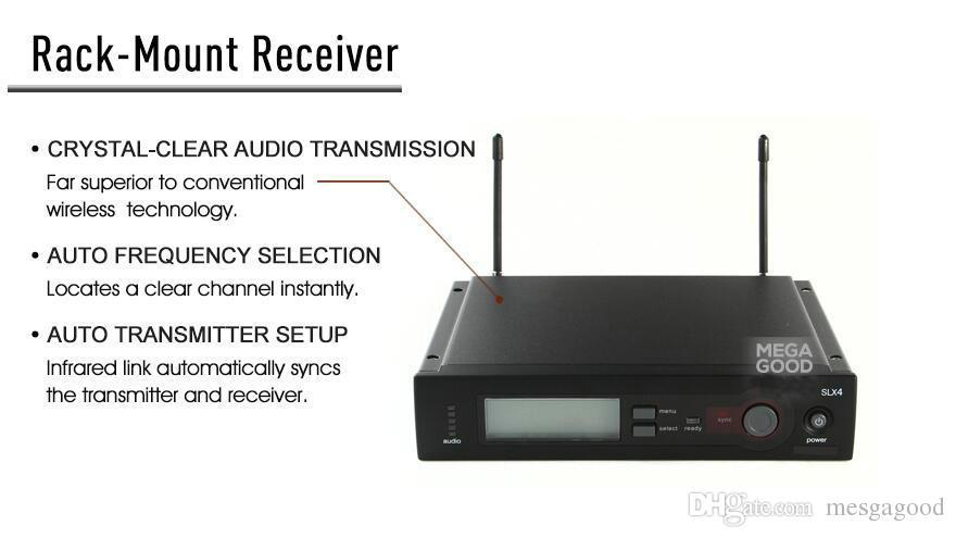 Dynamic Microphones Wholesale SLX14 SLX UHF Professional Karaoke Wireless System Bodypack Transmitter Lapel Lavalier Clip Mikrofon Free