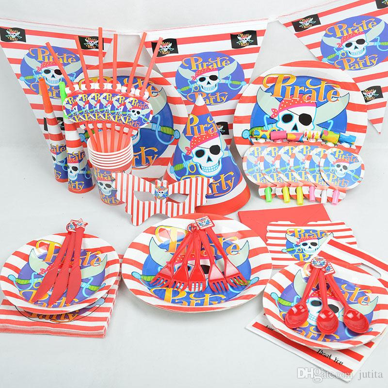 2017 Cartoon Pirate Theme Tableware Party Decoration For Children Boys Girls Event Birthday Party Supplies Wedding Favors Princess Birthday Party Princess ...  sc 1 st  DHgate.com & 2017 Cartoon Pirate Theme Tableware Party Decoration For Children ...