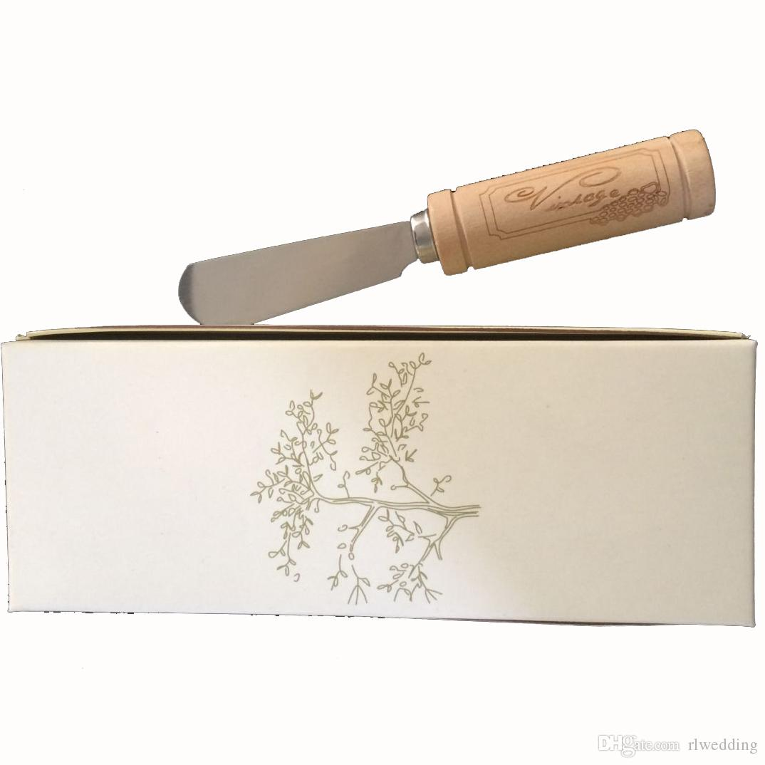 Personalized Wedding Party Favor And Gift For Guests,Customized Stainless Steel Butter Spreader Knife With Wooden Handle.Engrave Logo