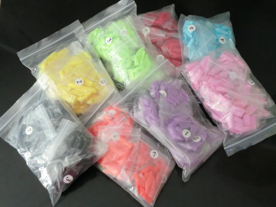 500 adet / torba Fransız Yanlış Akrilik Yapay Tırnak İpuçları Clipper Sahte Nail İpuçları Seçim için birçok renk