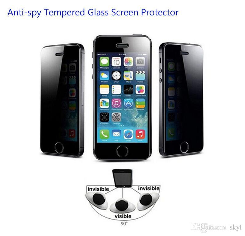 premium selection 32a13 3afd4 For Iphone 7 Privacy Screen Protector Shield Anti-Spy Real Tempered Glass  For Iphone 6 6S 7Plus Galaxy S6 With Retail Package