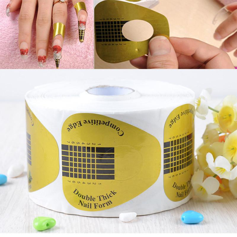 Tips Stickers Forms Nail Art Sculpting Extension Reusable Paper ...