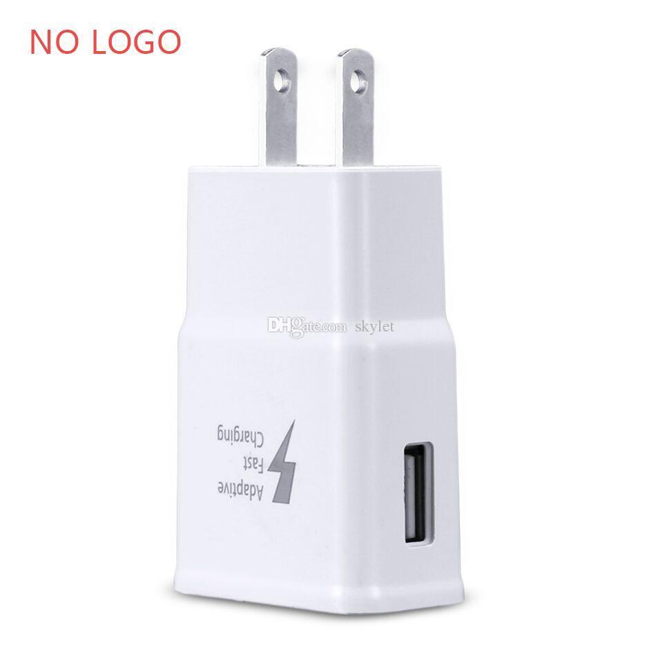 Для Samsung S7 Быстрое зарядное устройство Автомобильное зарядное устройство Для S6 Note 5 Адаптер для путешествий 1.5M Micro USB Комплекты кабелей 5V 2A Версия для США Plug No Logo Opp Bag