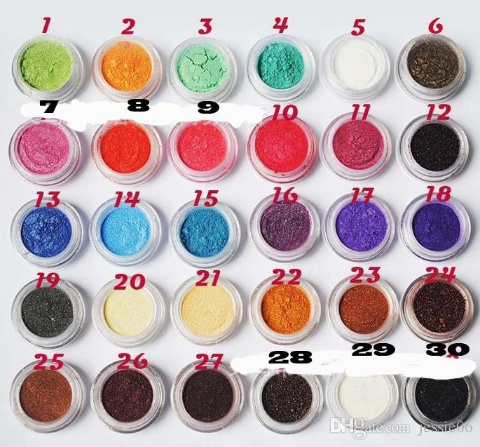 Pro Eye Shadow Makeup Cosmetic Shimmer Powder Pigment Mineral Glitter Spangle Eyeshadow drop shipping