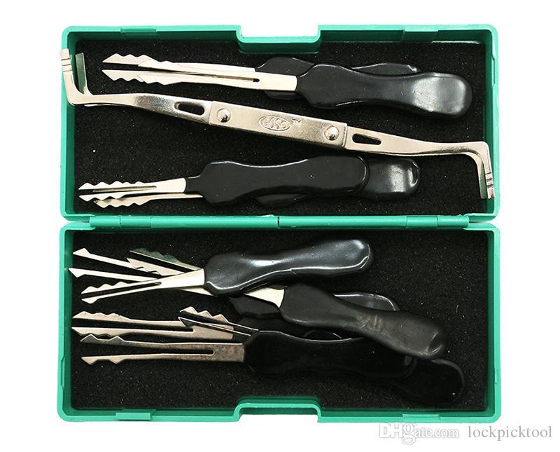 GOSO Aufschließen Dietriche Werkzeuge Set Lockpicking Werkzeuge mit Spannwerkzeug-Verschluss-Öffner Bauschlosser-Werkzeuge