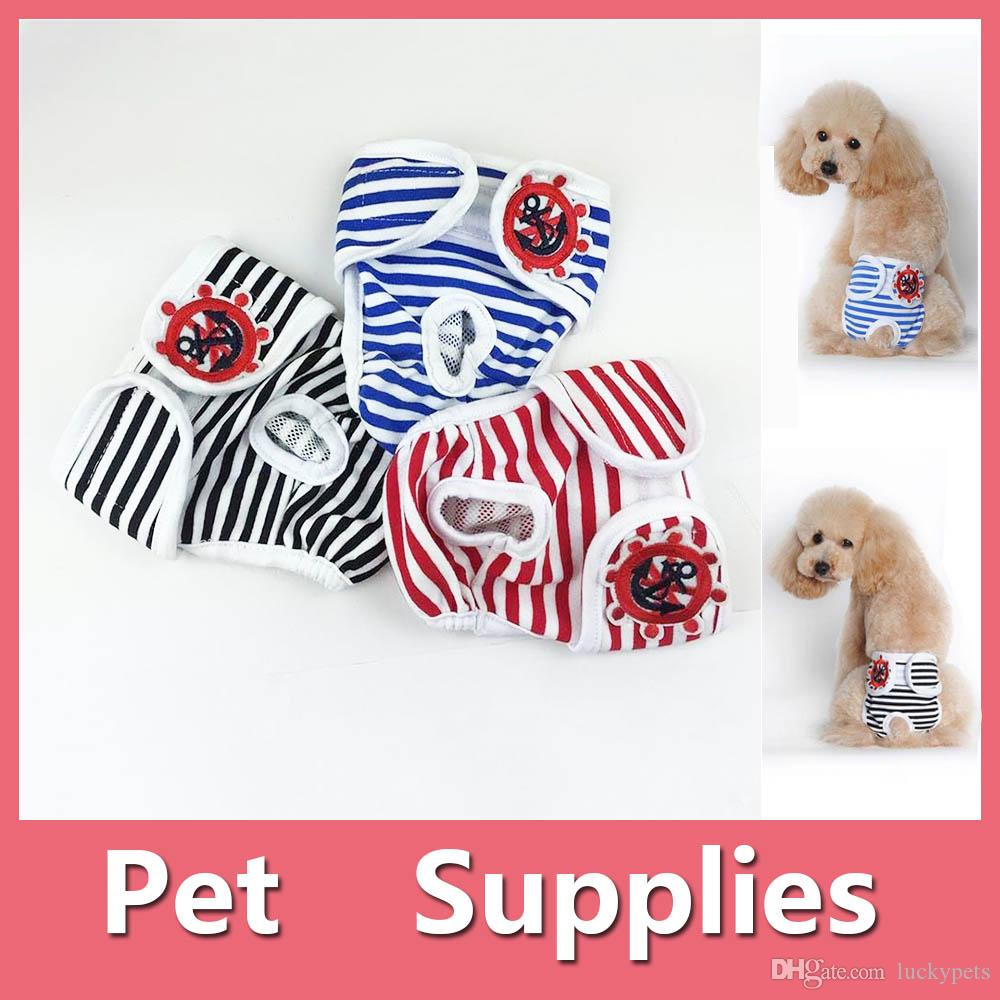 S-2XL Reusable Female Pets Dog Diapers Dog Sanitary Panty Dog Clothes Pet Apparel Pet Supplies 160919