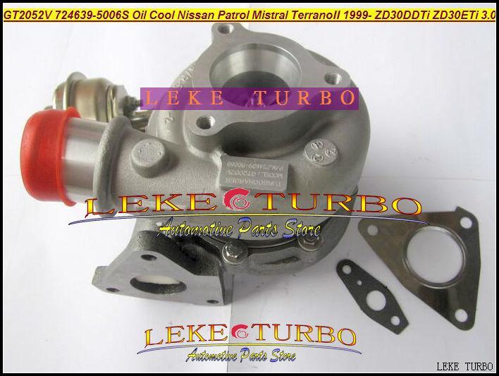 GT2052V 724639-5006S 705954-0015 wind cooled Oil Cooled Turbocharger Turbo For Nissan Patrol MISTRAL Terrano II 1999- ZD30DDTi ZD30ETi 3.0L