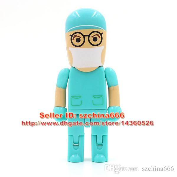 Green Doctor model USB 2.0 Flash Memory Pen Drive Stick 4GB 8GB 16GB 2GB 1GB dentist USB Flash Drives