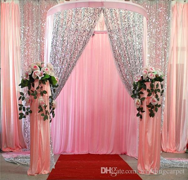 Blitter Bling 9mm Sequins Fabrics для свадебной столовой тканью украшения фона Свадебная марлевая фона занавес блестеть ткань 9 цвет