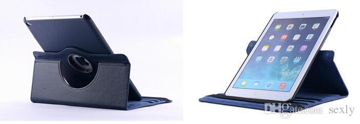 360 Stopni Obracanie Litchi PU Skórzane etui do iPada Mini 2 3 4 5 6 Air2 Samsung Galaxy Tab S T700 T800 P3200 P5200 T230 T530 Bezpłatny statek