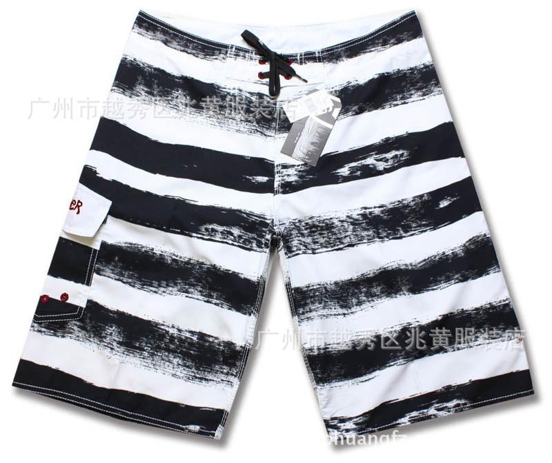 Compre Quiksilver Calças De Praia Secagem Rápida Masculina Shorts De  Algodão Casual Preto E Branco Listras 380 De Peisi 8e1299ce697