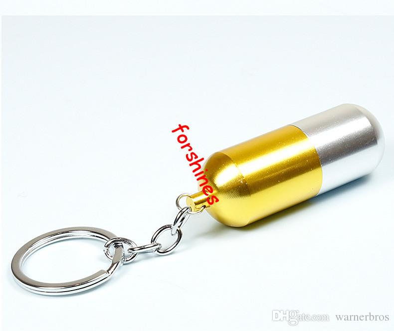 metallraucher rohre kapsel keychain metall tabak rohre metall filterrohr aluminiumlegierung zigarettenhalter kräuter pipes grinder rauch