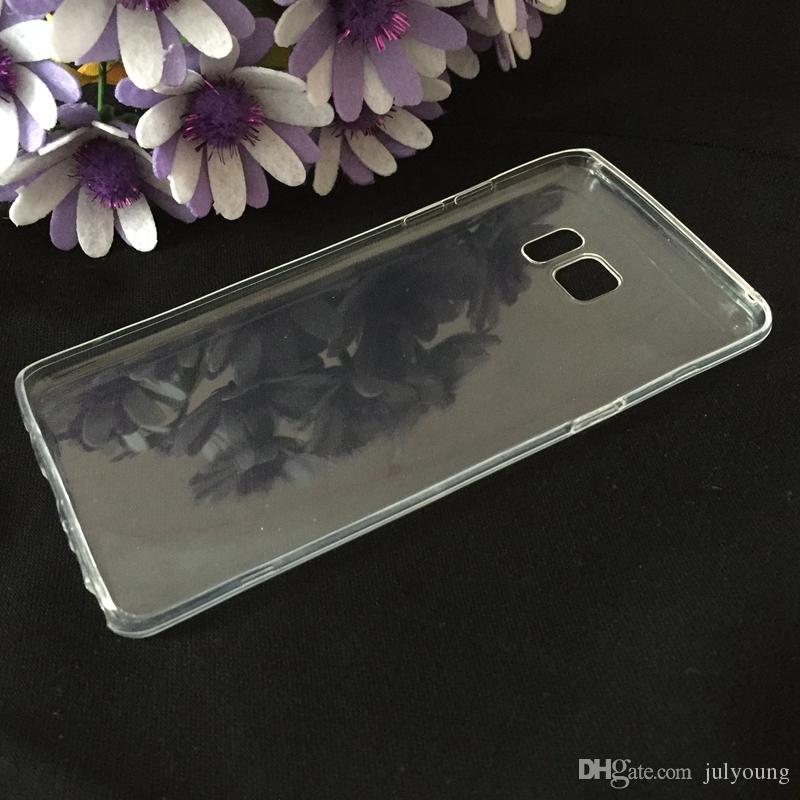 0.5mm Rensa mjuka TPU Fodral för iPhone 12 Pro 11 xs Max XR X 8 7 6 Ultrahin Ultra Tunn Flexibel Blank Gel Skin Crystal Fashion Mobiltelefon Back Cover