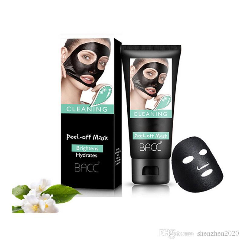 60g En kaliteli keratin bambu kömür kabuğu soyma maske kaldırmak Siyah Bambu kömür maske Ücretsiz Nakliye gözyaşı