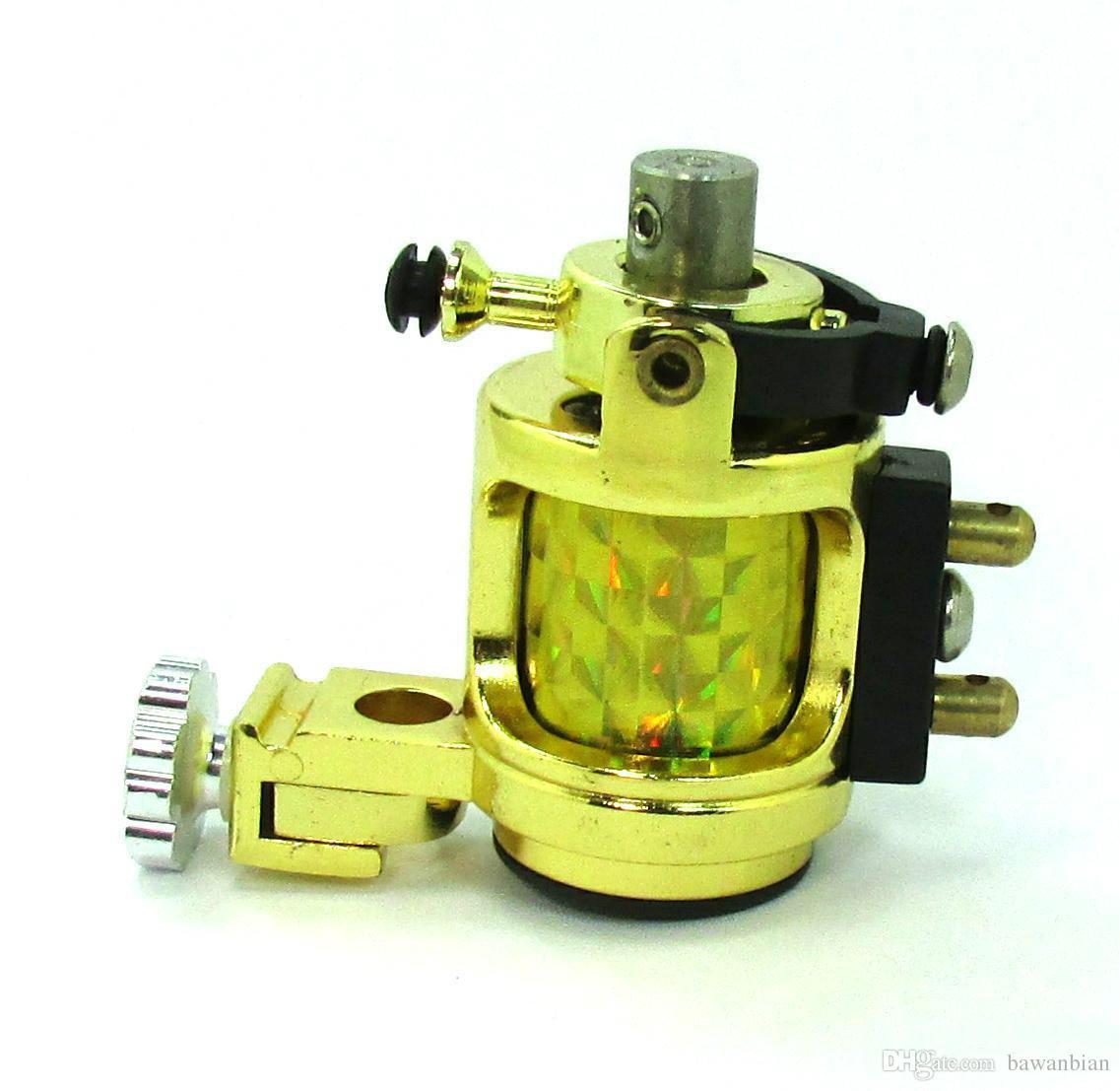 새로운 디자인 빛 침묵 골드 모터 로타리 문신 기계 Swashdrive 핸드 메이드 무료 배송 부드러운