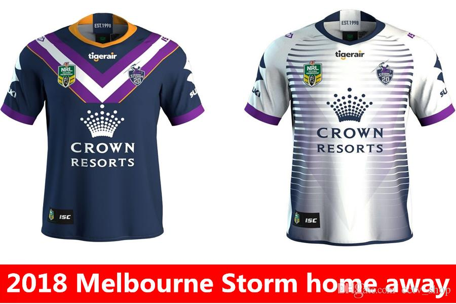 b68bf2b31 Newest Melbourne Storm 2018 Home Away Rugby Jerseys NRL National .