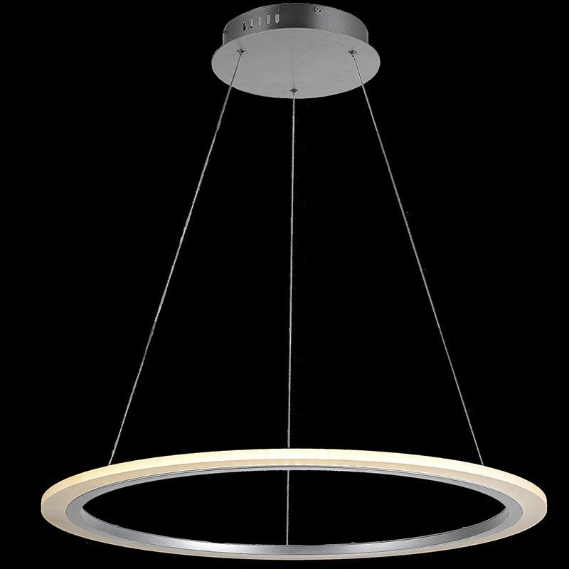 Modern Pendant Lamp Led Pendant Light Single Ring Acrylic Light ...