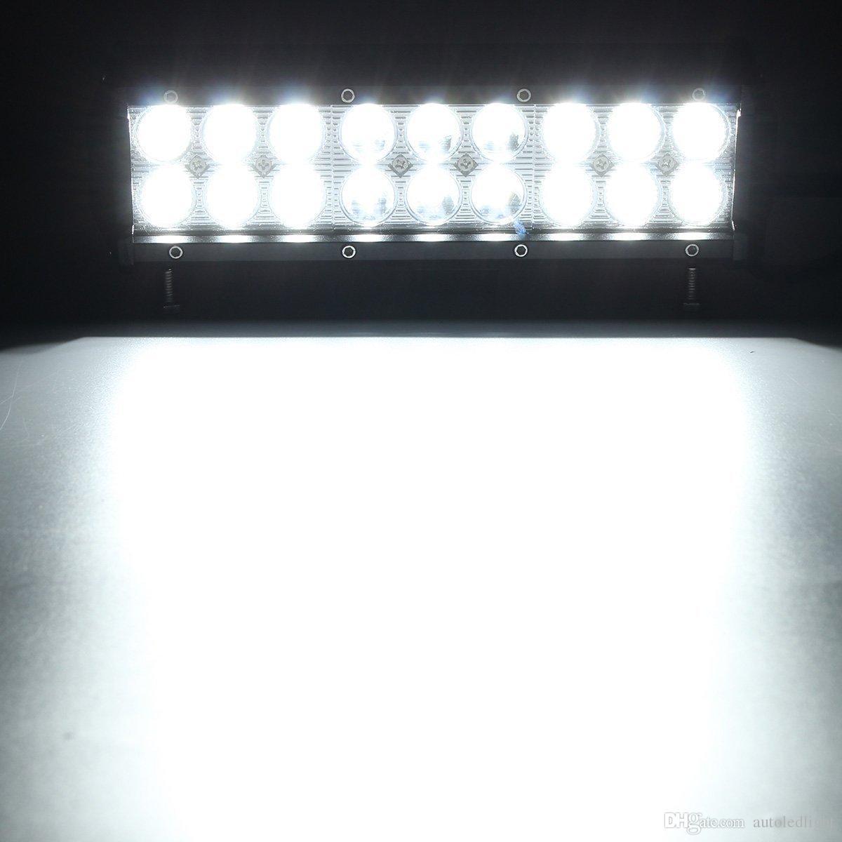 9 inch white 54W LED WORK Light bar 4*4 FLOOD LIGHT TRUCK BOAT OFFROAD LED Light bar utv