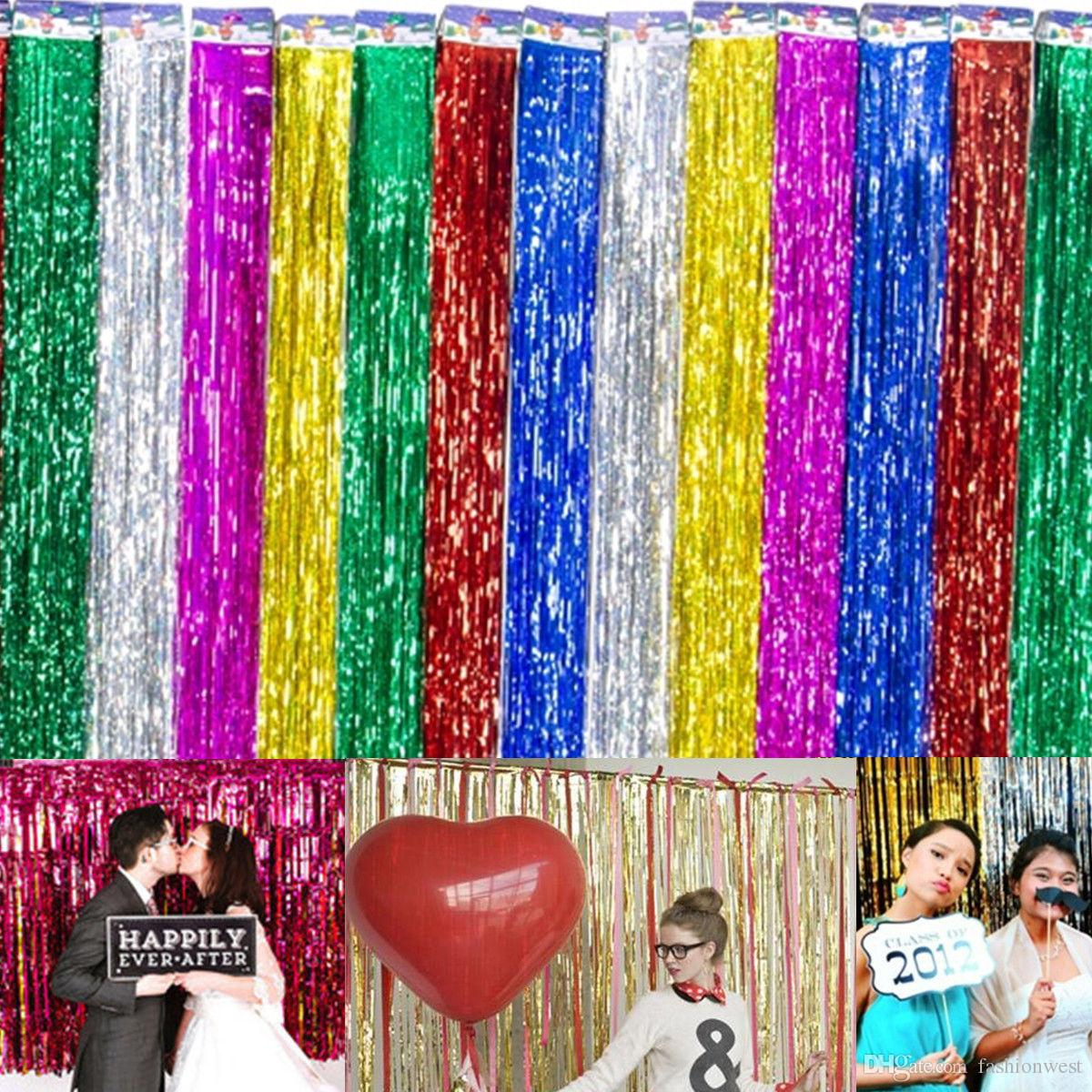 Curtains Wedding Decoration Backdrop Stage Tirai Foil Curtain Decorations Background Party Door Tinsel Shimmer Birthday Supplies Stand