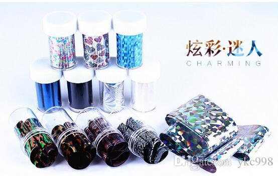 Cielo MIXED Nail Foil Sticker Colore mix Wrap Nail Stickers Punta Starry Sky MIXED GLITZY Nail Art Decorazione punta del chiodo Facile adesivo Shine