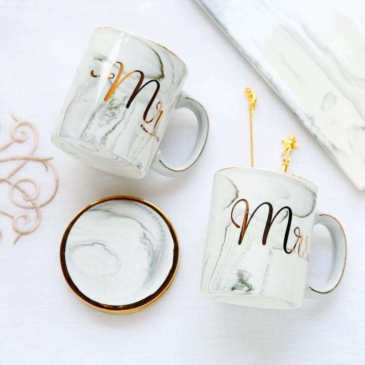 2018 couple gifts ceramic mr mrs mug cup for wedding party gifts