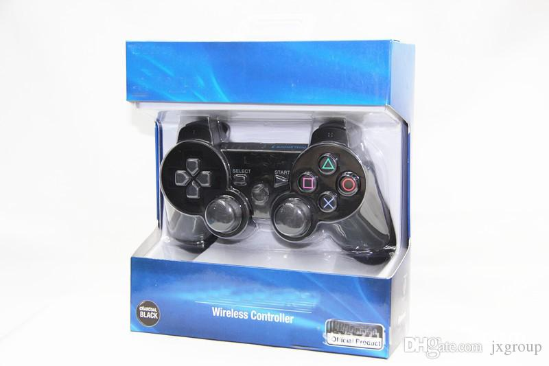 sony ps3 controller. for sony ps3 wireless controller sixaxis joystick with logo retail box dhl game gaming pc from