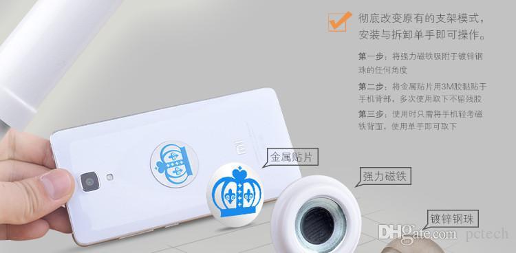 Универсальный 360 Вращающийся Гибкая Длинная Рука Металл Магнитный Держатель Сотового Телефона Стенд Магнит Ленивый Кровать Настольного Планшета Selfie Кронштейн
