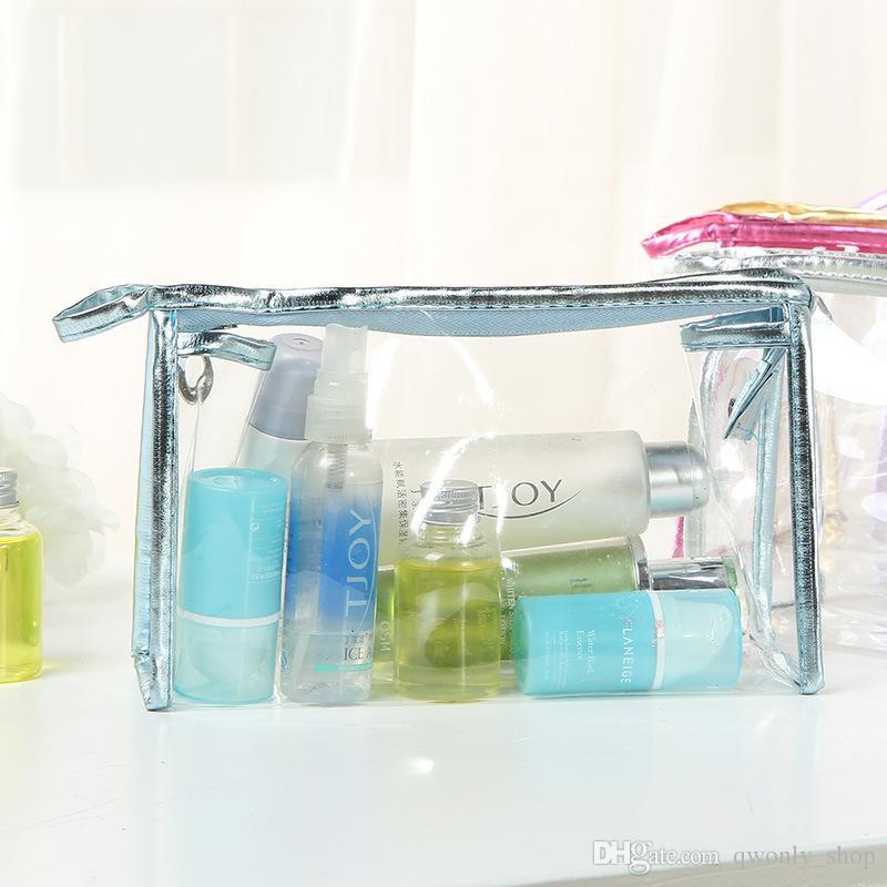 Hot Clear Transparent PVC Zipper Cosmetic Bag Portable Waterproof Makeup Tool Storage Bag