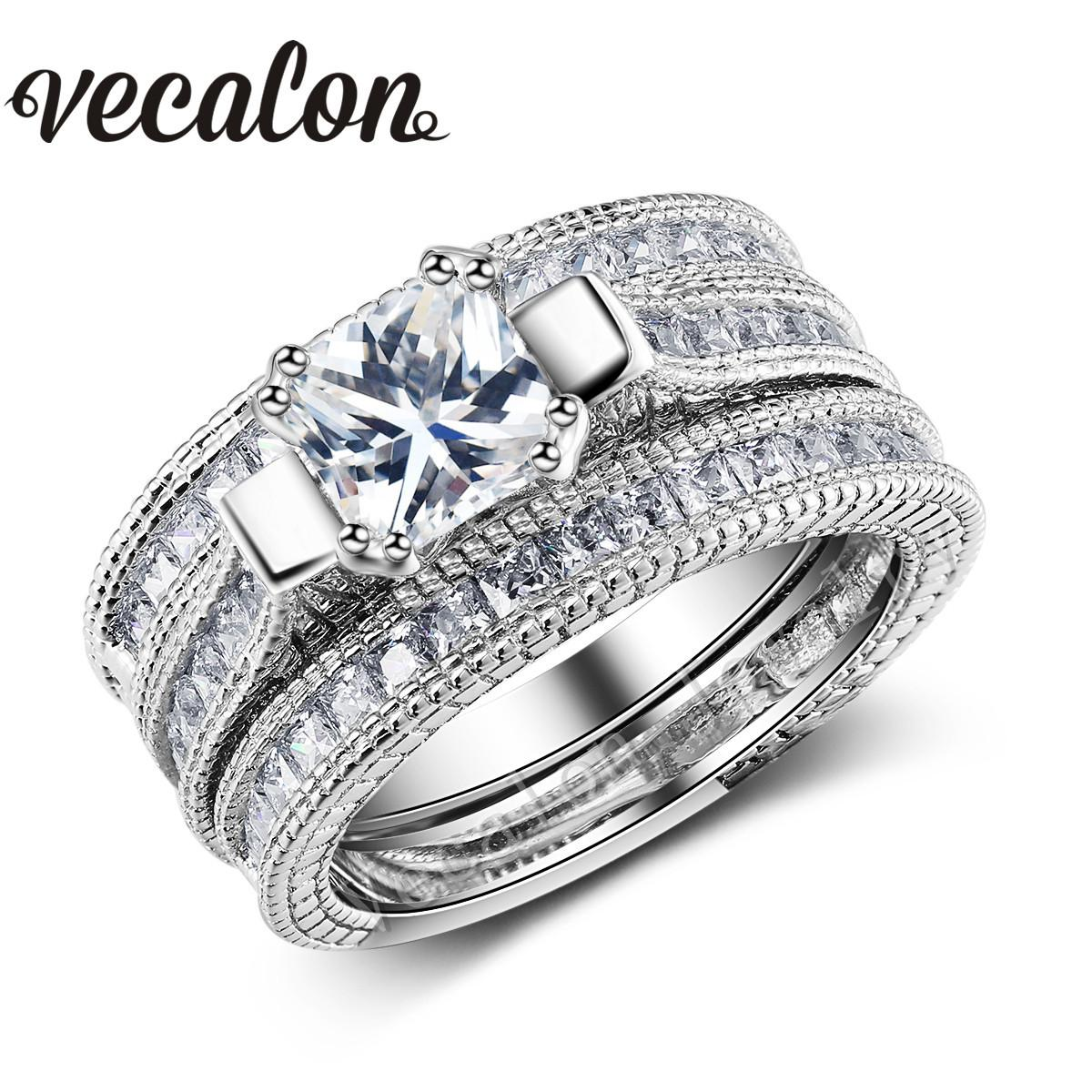 in princes engagement dp pave cut ring tw diamond platinum wedding ct set encrusted amazon princess com rings