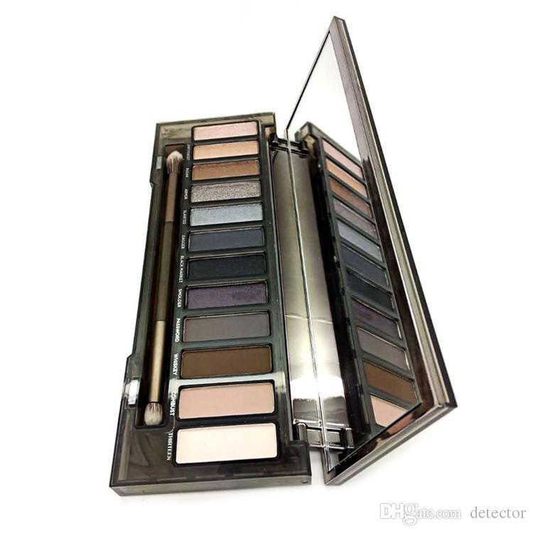 SıCAK Makyaj NUDE Dumanlı Palet 12 Renk Göz Farı Paleti 12 * 1.3g Yüksek kalite DHL Ücretsiz kargo