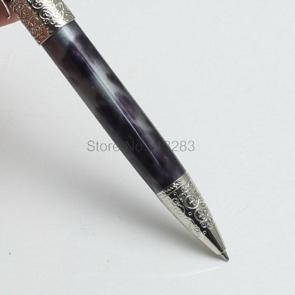 고품질 실버 새겨진 작가 Daniel Defoe 검은 볼펜과 참신 단풍 나무 잎 클립 편지지 오피스 학교 용품 쓰기 M 펜
