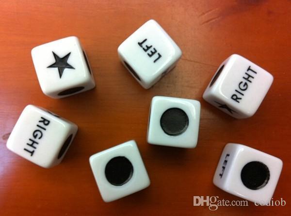 16мм Специального Dice Круглого свет правые пятиконечная звезда округлость LRC Кубики Питьевой игра Dice Хорошая цена Высокого качество # S15