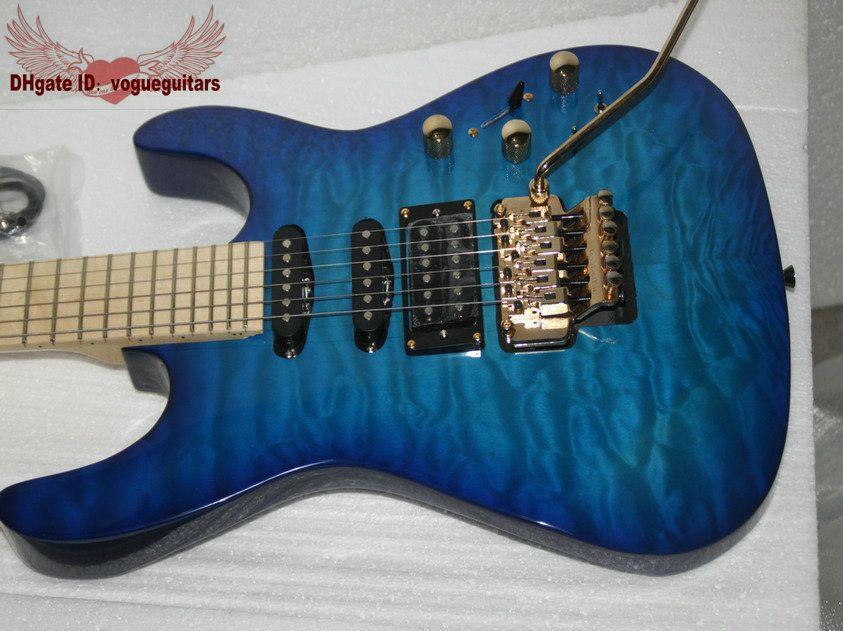 blue wave custom shop electric guitar high quality wholesale guitars hot a123654 left handed. Black Bedroom Furniture Sets. Home Design Ideas