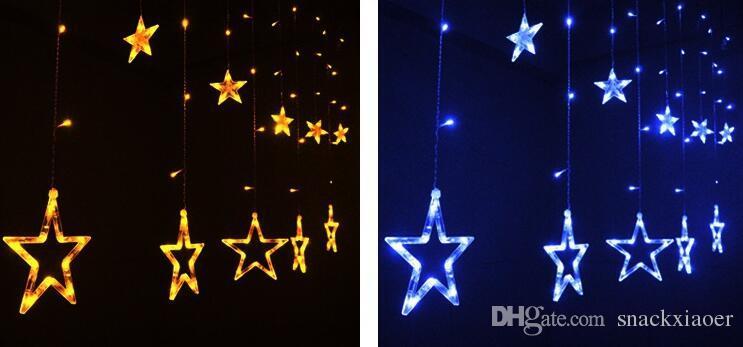 LED String 2M 110 V / 220 v stelle tenda fata luci stringa di Natale Xmas festa di nozze decorazione di halloween