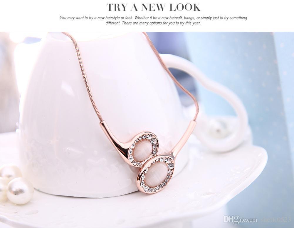 El Nuevo Collar de Moda Pendientes Conjuntos de Joyas de Alta Calidad Tendencia Aleación Conjunto de Joyas Para Mujeres Joyería de Boda 61152232