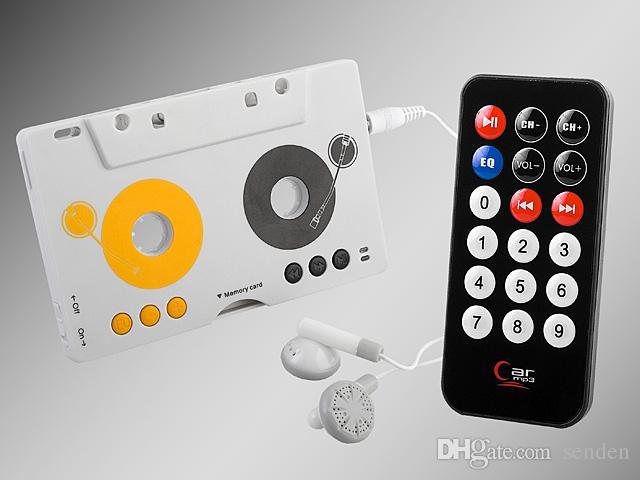 Retro Car Telecontrol Cinta Casete de audio Tarjeta de memoria MMC SD Kit de adaptador de reproductor de MP3 con control remoto Portátil USB Car Cassette Reproductor de MP3