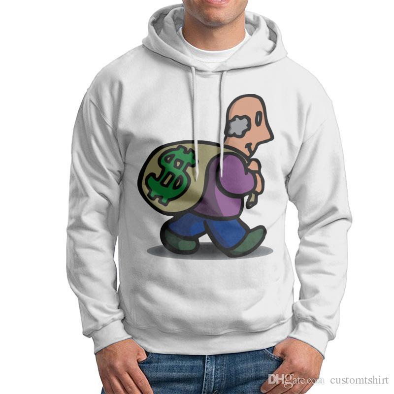Großhandel 100% Baumwolle Grau Sweatshirt Geld Männer Langarm Crewneck Rich Men White Design Sweatshirt Für Herren Von Customtshirt, $37.57 Auf
