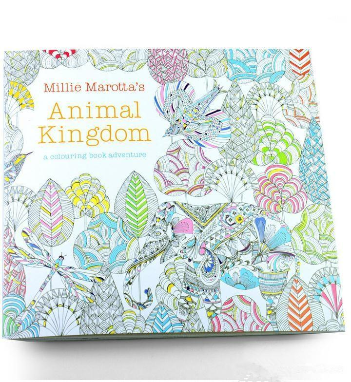 Secret Garden Coloring Books Animal Kingdom Adult Reducing Stress Drawing Book Diy Educational Toys Colour In Games