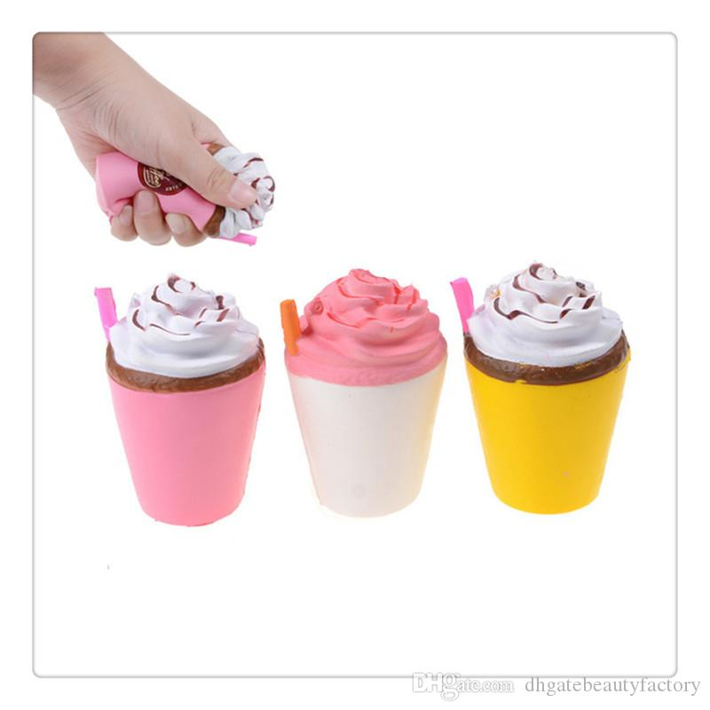 Wholesale Squishies Slow Rising Cream Scented Fun Kids Toy Joke Toy Children Gift Anti Stress Toys Jumbo Cute Coffee Cup Squishy Free DHL