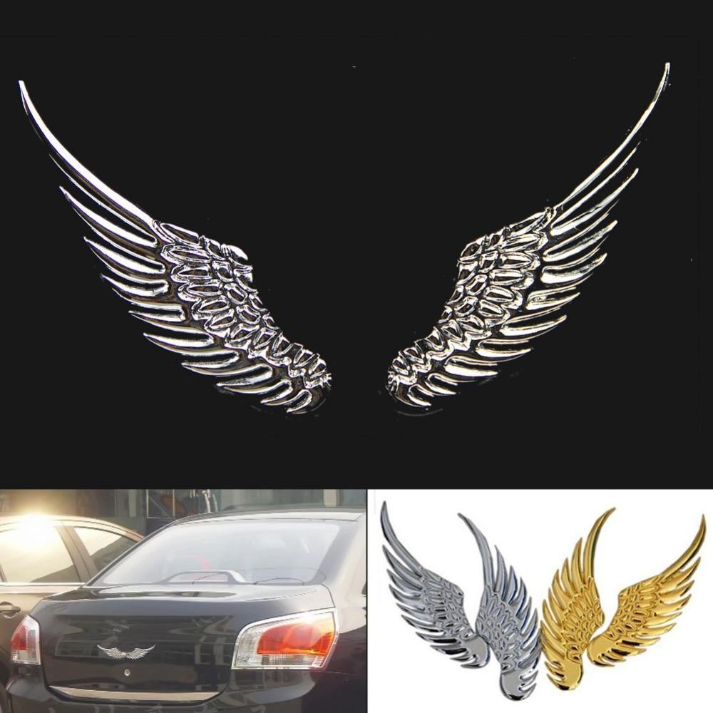 3d Alloy Metal Angel Hawk Wings Emblem Badge Decal Car ...