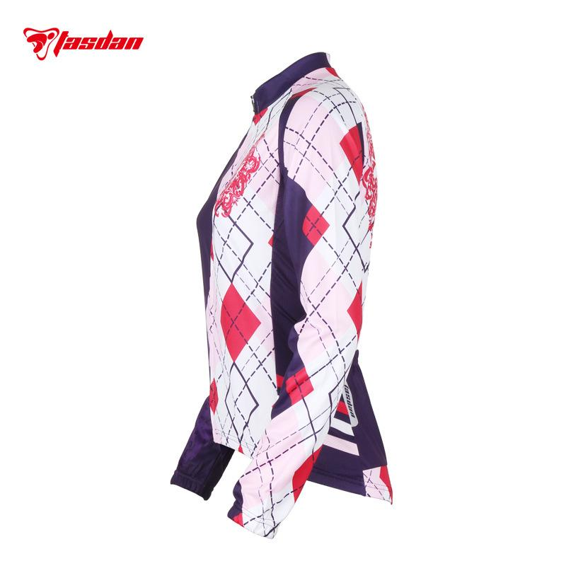 Tasdan Cycling Jersey 2016 Women Long Sleeve Fashion Sport Jerseys Anti-Shrink Bike Bicycle Jersey Cycle Clothing