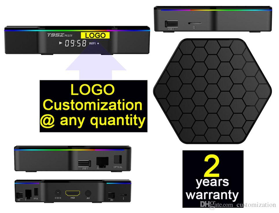 3pcs T95Zplus Custom Made Amlogic S912 octa core Smart Android7 1 LIVE TV  Streaming Box 3GB DDR 32GB ROM MediaHub 1200 live tv 1000 VOD