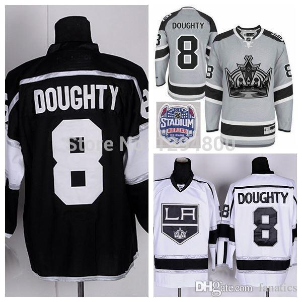 the latest 9af96 a3bf9 2016 Cheap Los Angeles Kings Jerseys #8 Drew Doughty Hockey Jersey Team  Color Home Black Road White LA Kings Stitched Jerseys China