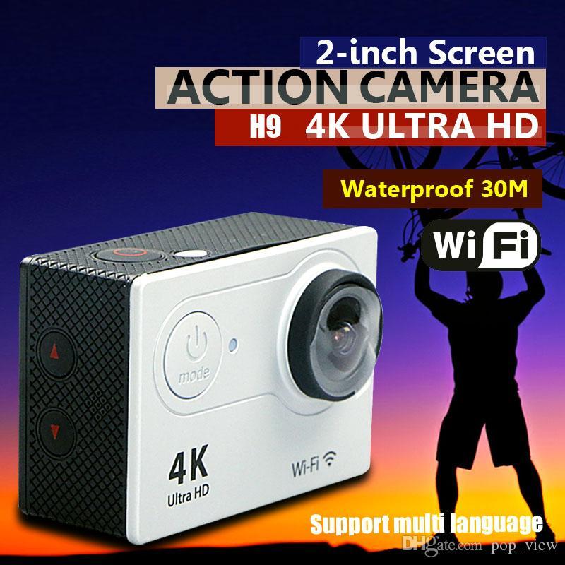 H9 Action camera H9 Ultra HD 4K WiFi 1080P/60fps 2.0 LCD 170D lens Helmet Cam underwater waterproof go pro camera SJ4000