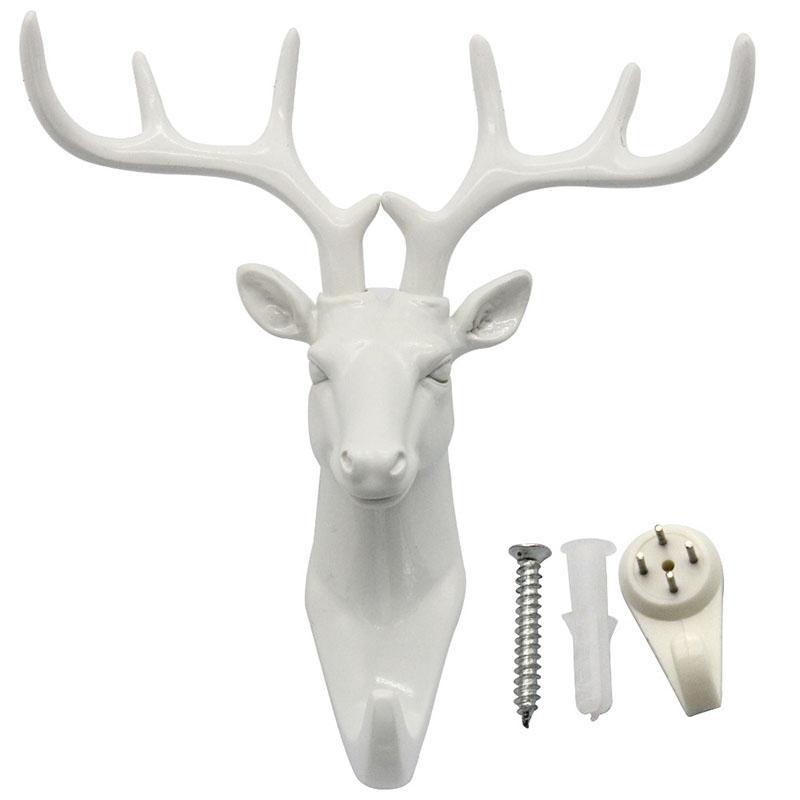 Fashion-Animal-Shaped-Deer-Stags-Rhino-Horse-Giraffe-Elephant-Head-Wall-Hanger-Coat-Hat-Hook-Rack