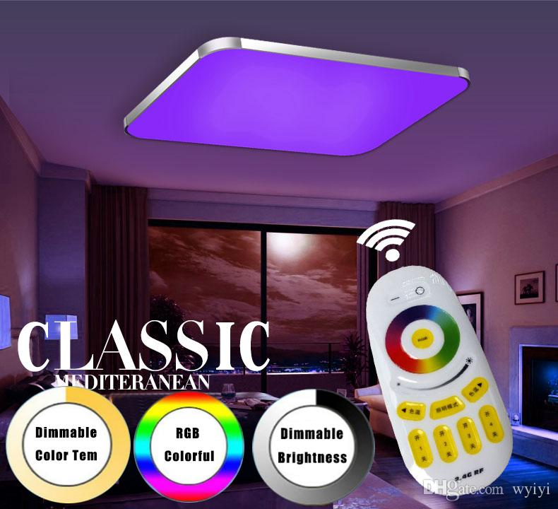 Best modern led ceiling lights living room 24g remote group best modern led ceiling lights living room 24g remote group controlled dimmable color changing home ceiling lamp luminaire light under 4955 dhgate mozeypictures Choice Image
