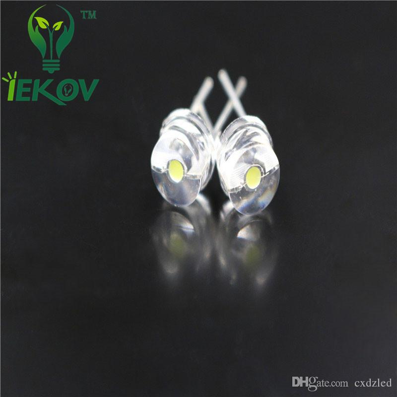 /bag 8mm 0.5W Straw Hat Warm White High Power Ultra Bright LED Light F8MM Led Electronic Components light Emitting Diodes Wholesale