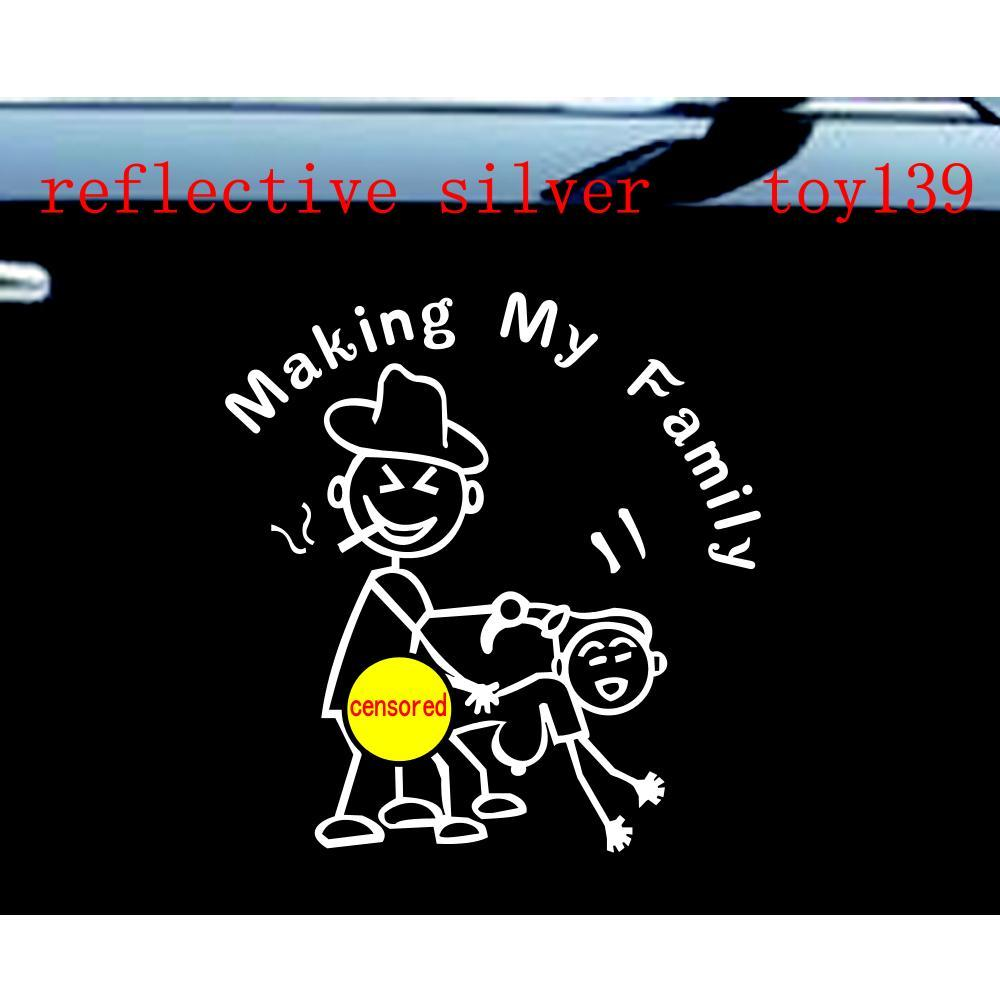 Stick Figure Making My Family Car Decal Funny Sticker Car Nobody - Funny car decal stickers